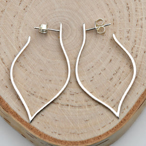 Sterling Silver Lotus Petal Post Earrings -- EF0009