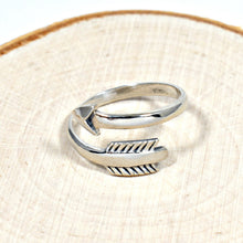 Load image into Gallery viewer, Sterling Silver Adjustable Arrow Ring -- EF0010