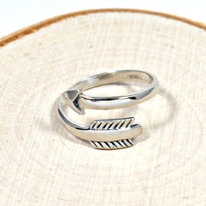 Sterling Silver Adjustable Arrow Ring -- EF0010