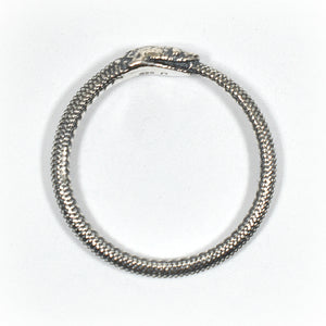 Sterling Silver Textured Snake Ring -- EF0014