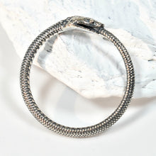 Load image into Gallery viewer, Sterling Silver Textured Snake Ring -- EF0014