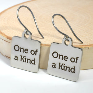 "Stainless Steel ""One of a Kind"" Earrings -- EF0031"