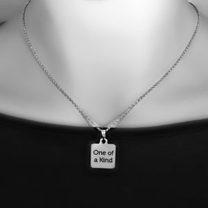 "Stainless Steel ""One of a Kind"" Necklace -- EF0032"