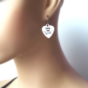 "Stainless Steel ""Spread Your Sparkle"" Earrings -- EF0033"