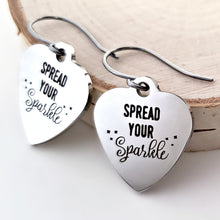 "Load image into Gallery viewer, Stainless Steel ""Spread Your Sparkle"" Earrings -- EF0033"