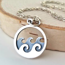 Load image into Gallery viewer, Sterling Silver Ocean Waves Charm -- EF0051