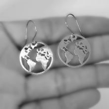 Load image into Gallery viewer, Stainless Steel Cut Out Earth Earrings -- EF0061