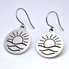 Load image into Gallery viewer, Stainless Steel Sunrise Earrings -- EF0068