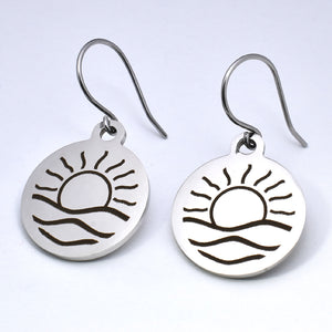 Stainless Steel Sunrise Earrings -- EF0068