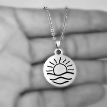Load image into Gallery viewer, Stainless Steel Sunrise Necklace -- EF0069