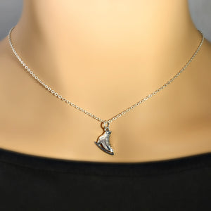 Sterling Silver Ice Skate Charm Necklace -- EF0083