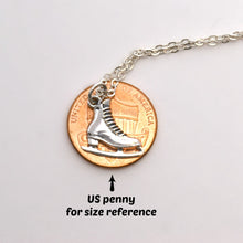 Load image into Gallery viewer, Sterling Silver Ice Skate Charm Necklace -- EF0083