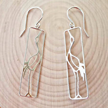 Load image into Gallery viewer, Sterling Silver Crane Earrings -- EF0092