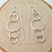 Load image into Gallery viewer, Sterling Silver 5 Circle Ear Threader -- EF0113