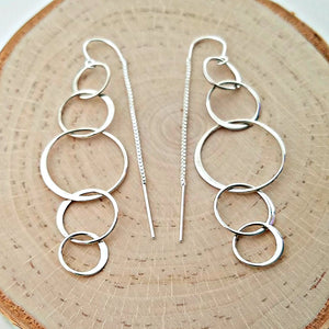 Sterling Silver 5 Circle Ear Threader -- EF0113