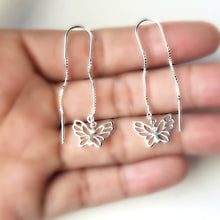Load image into Gallery viewer, Sterling Silver Butterfly Ear Threaders -- EF0117