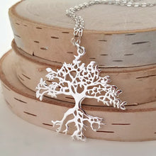 Load image into Gallery viewer, Sterling Silver Tree of Life Pendant -- EF0135