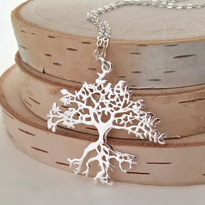 Sterling Silver Tree of Life Pendant -- EF0135