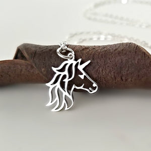 Sterling Silver Unicorn Head Charm -- EF0136