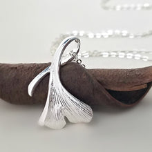 Load image into Gallery viewer, Sterling Silver Ginkgo Leaf Necklace -- EF0141