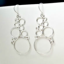 Load image into Gallery viewer, Sterling Silver Bubble Cluster Earrings -- EF0148