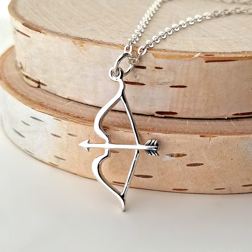 Sterling Silver Bow and Arrow Charm -- EF0153