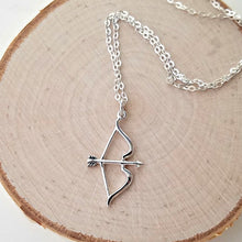 Load image into Gallery viewer, Sterling Silver Bow and Arrow Charm -- EF0153