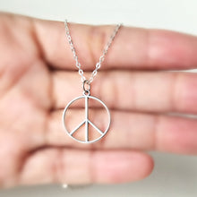 Load image into Gallery viewer, Sterling Silver Peace Sign Charm -- EF0157