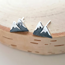 Load image into Gallery viewer, Sterling Silver Mountain Post Earrings -- EF0167