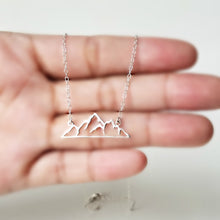 Load image into Gallery viewer, Sterling Silver Mountain Necklace -- EF0168