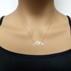 Sterling Silver Mountain Necklace -- EF0168