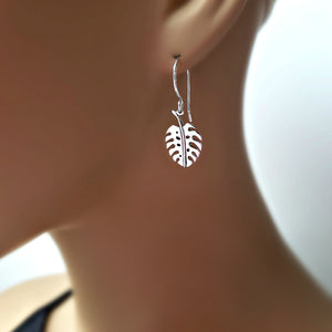 Sterling Silver Monstera Leaf Charm -- EF0169