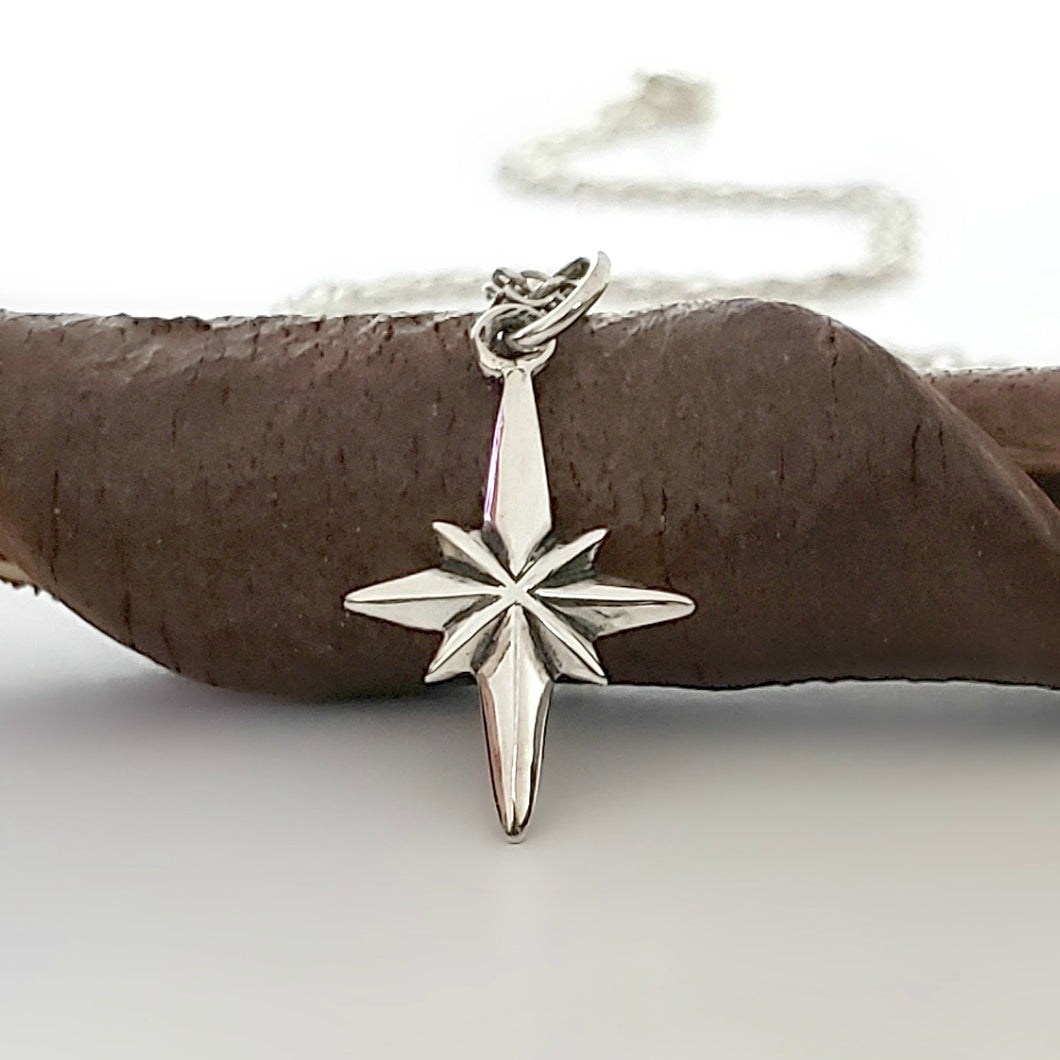 Sterling Silver North Star Charm -- EF0193