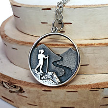 Load image into Gallery viewer, Sterling Silver Hiker Girl Charm -- EF0195