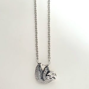 Sterling Silver Sloth Charm -- EF0196
