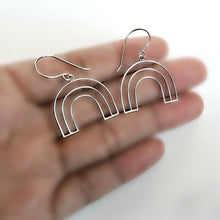 Load image into Gallery viewer, Sterling Silver Wire Rainbow Earrings -- EF0201