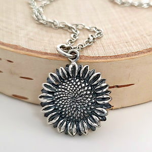Sterling Silver Sunflower Charm -- EF0205