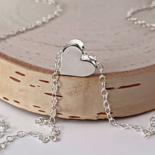 Load image into Gallery viewer, Sterling Silver Heart Bead Necklace -- EF0209