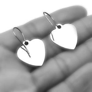 "Stainless Steel ""Happy Thoughts"" Earrings -- EF0041"