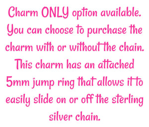 Sterling Silver Kayak Charm Necklace -- EF0104