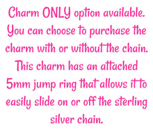Load image into Gallery viewer, Sterling Silver Heart/Heartbeat Charm -- EF0101