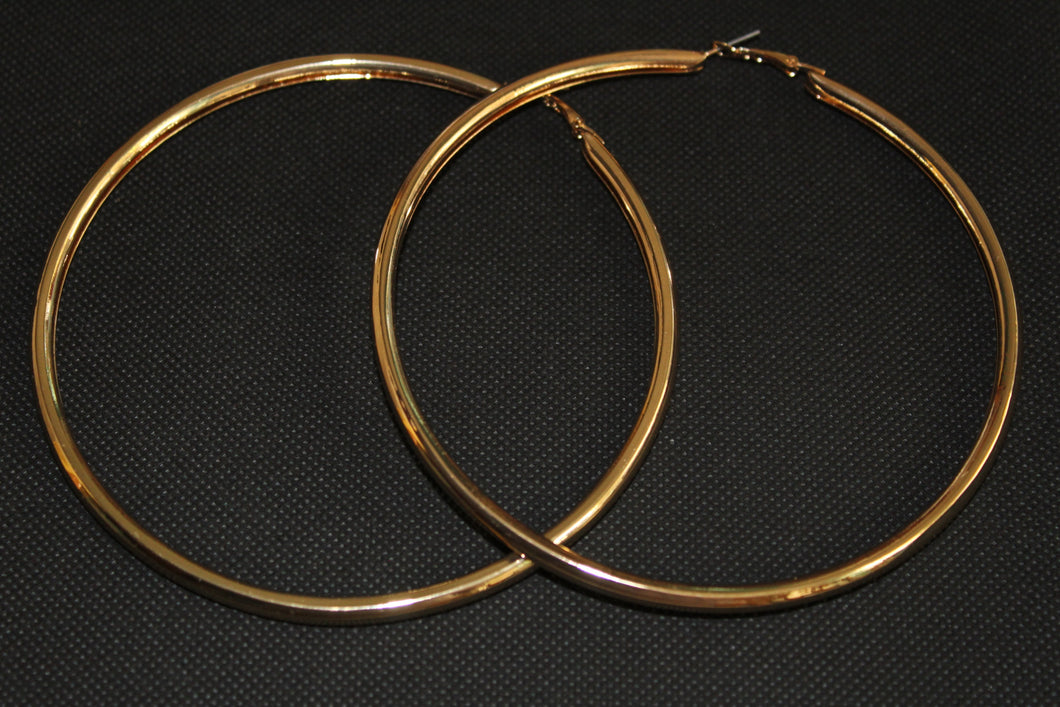 Smooth Metal Hoop Earrings