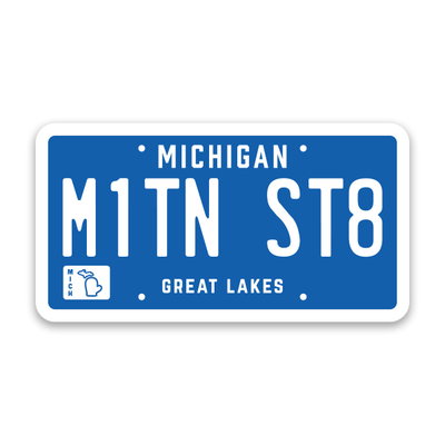 MITTEN STATE LICENSE PLATE STICKER