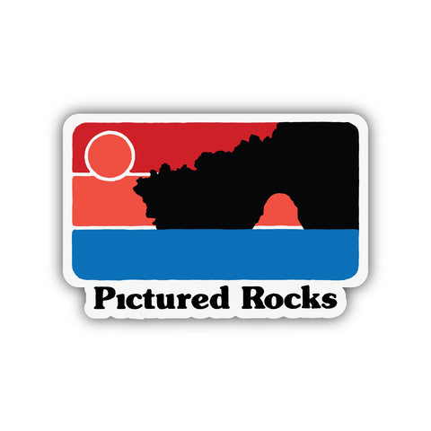 PICTURED ROCKS STICKER