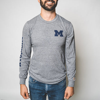 UofM - BLOCK M CLASSIC LONG SLEEVE (UNISEX)