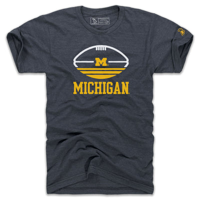 UofM - TRI-STRIPE FOOTBALL (UNISEX)