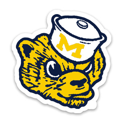 "UofM - ""WOLVERBEAR"" THROWBACK STICKER"