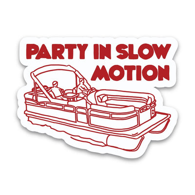 PONTOON PARTY STICKER