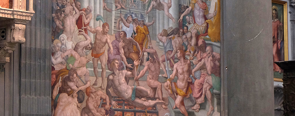 Martyrdom of Saint Lawrence, Basilica di San Lorenzo in Florence by Bronzino
