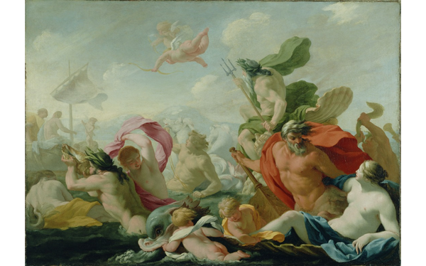 Eustache Le Sueur (French, 1616 - 1655) Marine Gods Paying Homage to Love  The J. Paul Getty Museum, Los Angeles